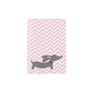 Protège-passeport Voyage rose de couverture de passeport de chien de