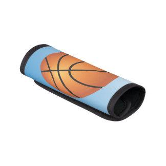 Protège Poignée Pour Bagage Arrière - plan de bleu d'icône de basket-ball