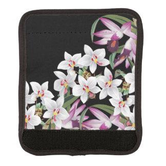 Protège Poignée Pour Bagage Enveloppe blanche tropicale de poignée de bagage