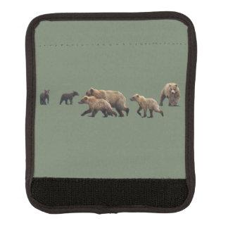Protège Poignée Pour Bagage Enveloppe de poignée de bagage avec des ours gris