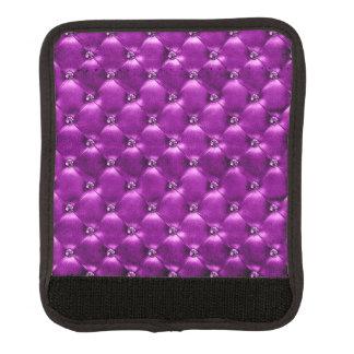 Protège Poignée Pour Bagage Enveloppe pourpre de bagage d'image de diamant