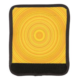 Protège Poignée Pour Bagage Motif jaune et orange d'anneau/cercle
