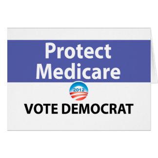 Protégez Assurance-maladie : Votez Démocrate Carte De Vœux