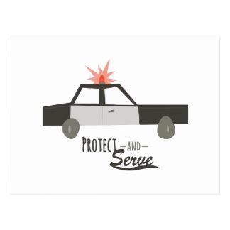 Protégez et servez carte postale