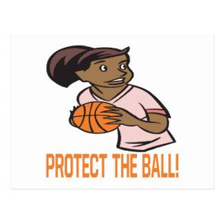 Protégez la boule carte postale