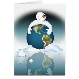 Protégez la planète carte de vœux