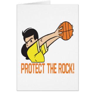 Protégez la roche carte de vœux