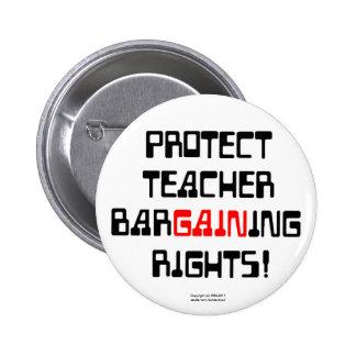 Protégez les droits de négociation de professeur badges