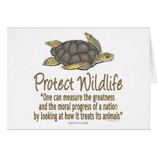Protégez les tortues de mer carte de vœux