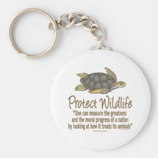 Protégez les tortues de mer porte-clé rond