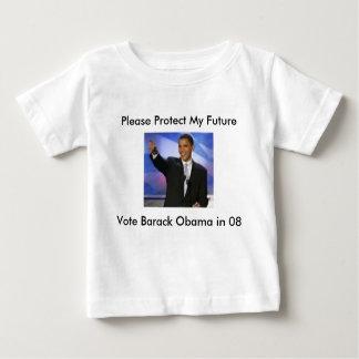 Protégez mon vote Obama 08, svp Prot de Furture…… T-shirt Pour Bébé