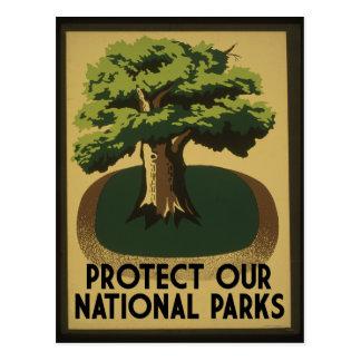 Protégez nos parcs nationaux carte postale