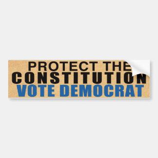 Protégez notre constitution - vote Démocrate Autocollant De Voiture