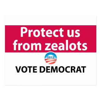 Protégez-nous contre des fanatiques : Votez Carte Postale