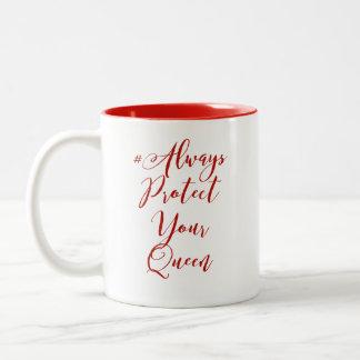 Protégez toujours votre tasse de café de la Reine