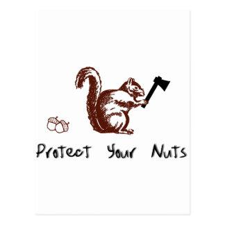 Protégez vos écrous carte postale