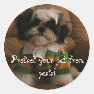 Protégez votre animal familier contre des sticker rond