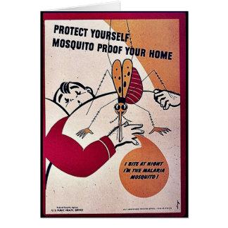 Protégez-vous preuve de moustique votre maison carte de vœux