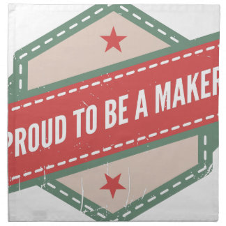 Proud to be a Maker vintage logo Serviettes En Tissus
