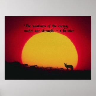 Proverbe cherokee poster