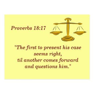 Proverbes 18 carte de mémoire de 17 écritures
