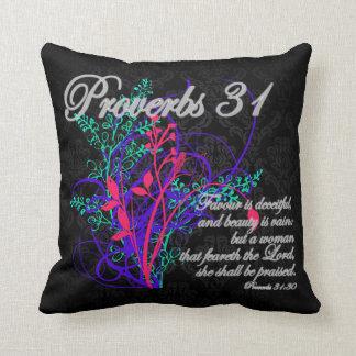 Proverbes 31 femmes de chrétien de bible coussin