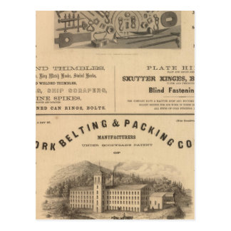 Providence Tool et Forge et Nut Company Carte Postale