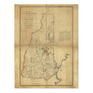 Province de carte topographique du New Hampshire