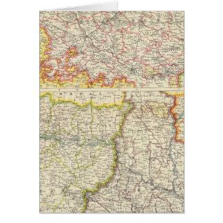 Provinces du Gange inférieur Carte De Vœux