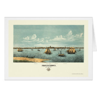Provincetown, carte panoramique de mA - 1877
