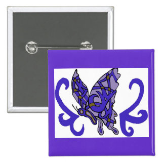Prp tribal/papillon bleu pin's avec agrafe