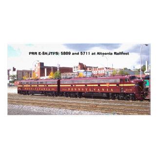 PRR E-8A (JTFS) 5809 et 5711 chez Altoonia Railfes Cartes De Vœux Avec Photo