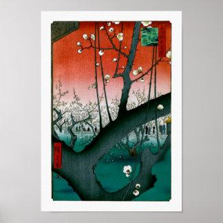 Prune de dragon de sommeil, beaux-arts de Kameido Poster