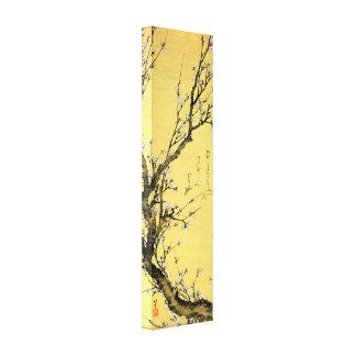 Prune fleurissante par Hokusai Toiles