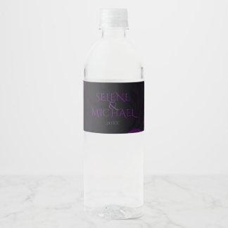 Prune gothique, fleurie étiquette pour bouteilles d'eau