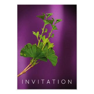 Prune organique de verdure de dîner de chef de carton d'invitation 8,89 cm x 12,70 cm