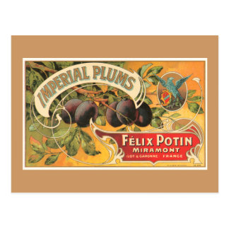 Prunes impériales cartes postales