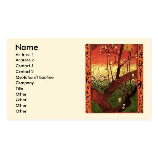 Prunier fleurissant japonais de Van Gogh, art Carte De Visite Standard