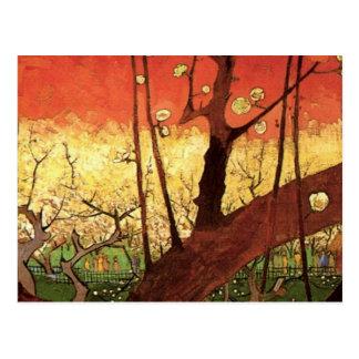 Prunier fleurissant japonais de Van Gogh art vint Carte Postale