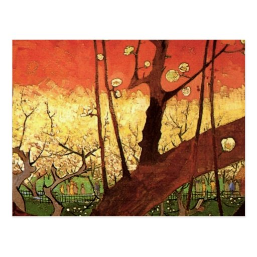 Prunier fleurissant japonais de Van Gogh, art vint Carte Postale