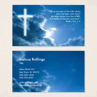 Psaume 121 ; 1 chrétiens pipe% bleus de 2 % cartes de visite