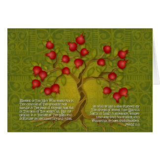 Psaume 1 carte de vœux