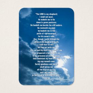 Psaume 23 - Carte de visite chrétien