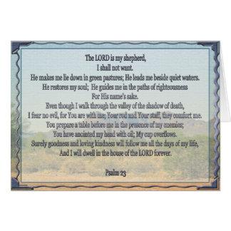 Psaume 23 cartes