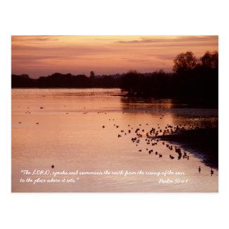 Psaume 50 v 1 carte postale