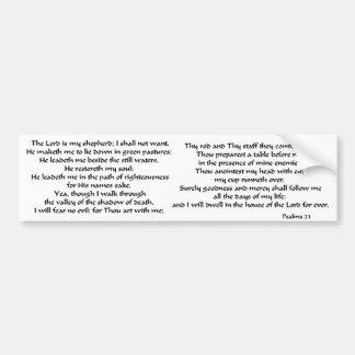 Psaumes 23 autocollant pour voiture