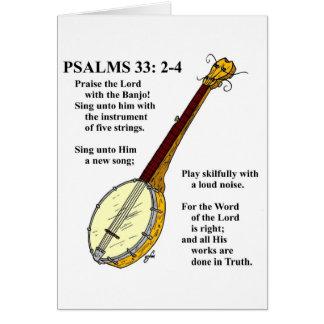 PSAUMES 33 : Paise le seigneur avec le banjo Cartes