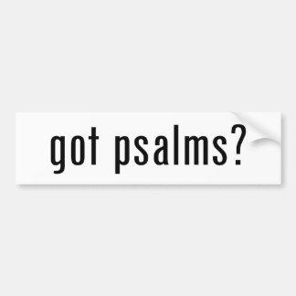 Psaumes obtenus ? autocollant pour voiture