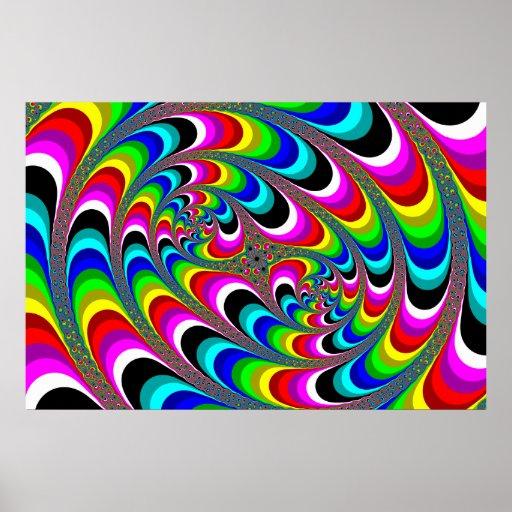 Psychédélique - affiche de fractale