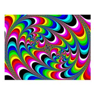 Psychédélique - carte postale de fractale